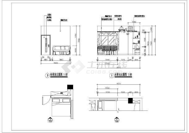 风格别墅装修设计施工图,图纸内容包含各层原始结构图,各层平面布置图