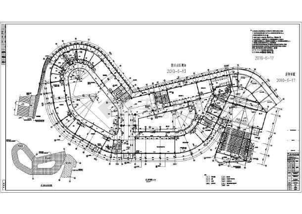 梧州三层框架结构妇女儿童活动中心建筑设计施工图