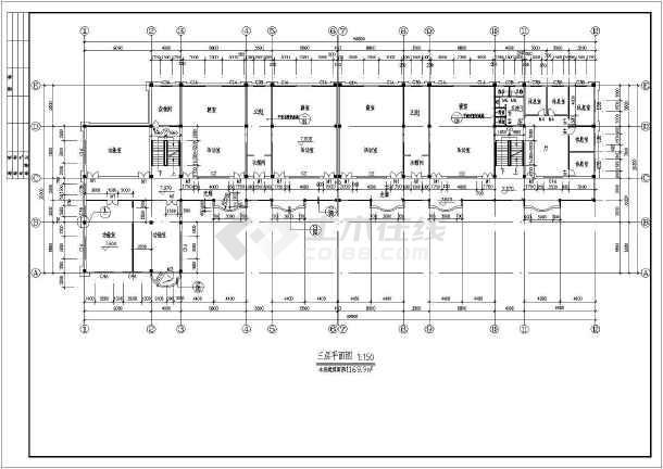 某地3层框架结构幼儿园建筑设计施工图