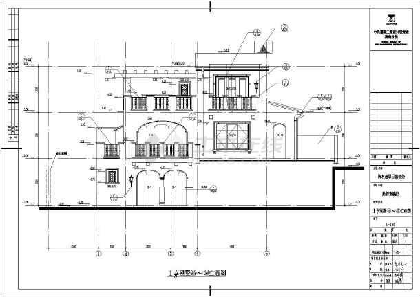 海南某地三层坡地别墅建筑设计施工图纸