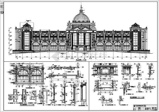 广东某地四层欧式风格酒店建筑设计方案图纸