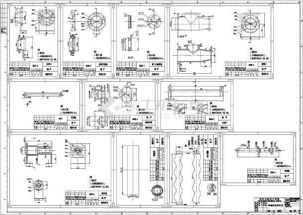污泥螺杆泵零件图,详细结构装配图图片