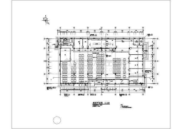 某学校两层食堂综合楼建筑设计施工图_cad图纸下载