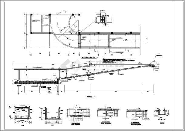 某住宅建筑地下车库及坡道全套结构施工图(框架结构)