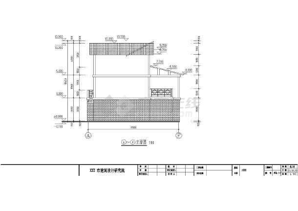三层两电梯住宅户型立面图_cad图纸下载欧式农村cad图片