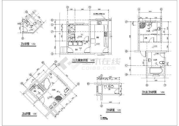 某地两层独栋别墅全套建筑设计施工图_cad图纸下载