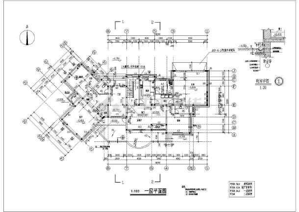 某地两层独栋全套别墅建筑设计施工图柯震东别墅图片