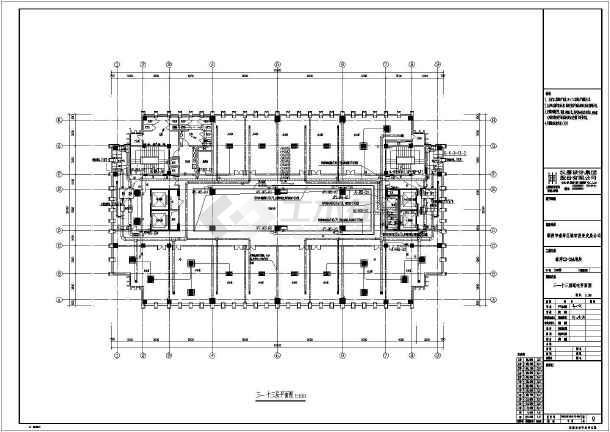 某水电办公楼放在图纸v水电高层图纸cad里建筑截断一张全套如何图片