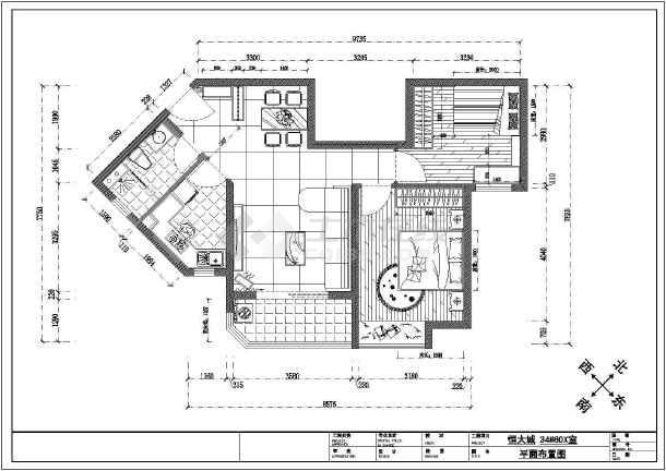 【武汉】恒大城85㎡两室一厅室内装修设计图图片