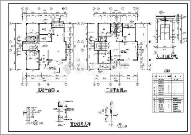三层独栋式别墅建筑施工图,含效果图-图2