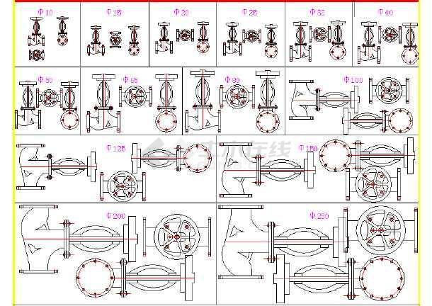 暖通给排水阀门结构图