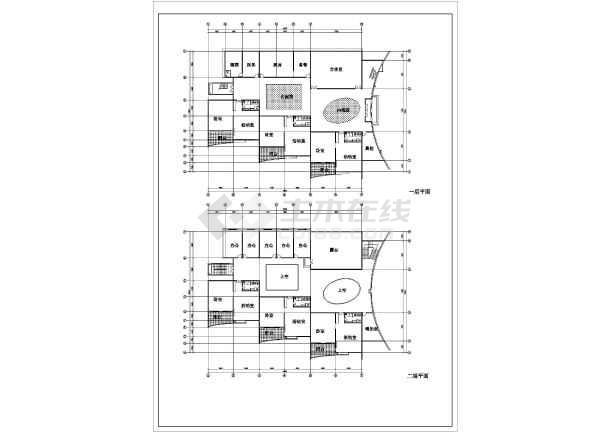 【安徽省】某地二层幼儿园建筑设计图