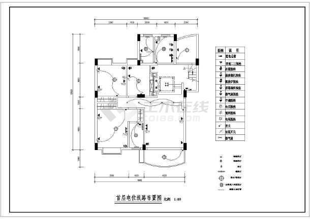 某现代风格图纸楼装饰装修设计施工图纸cad成如何转复式多张pdf图片