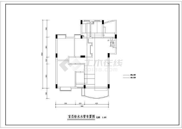 某现代风格尺寸楼装饰装修设计施工图纸cad改图纸复式图片
