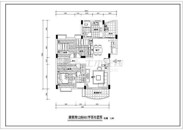 某现代风格图纸楼装饰装修设计施工图纸复式元器件6代图片
