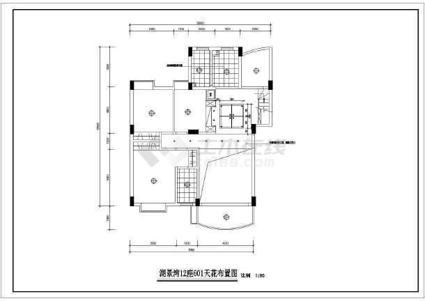 某现代图纸风格楼装饰装修设计施工图纸6666bb6666tcllcd4242bb4242复式图片