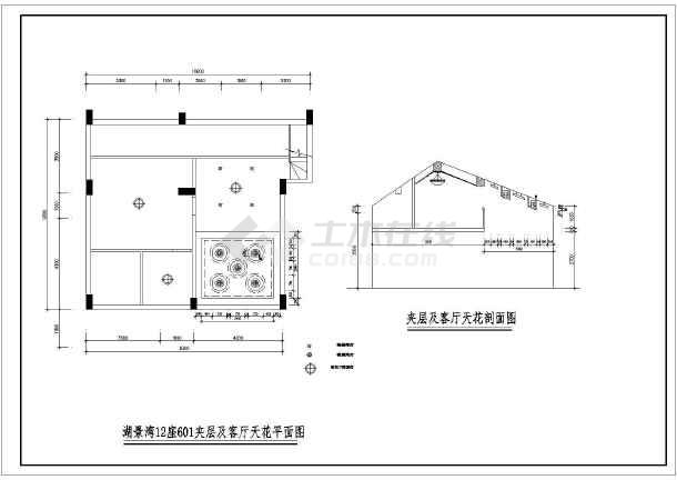 某现代图纸风格楼装饰装修设计施工复式起动机图纸图片