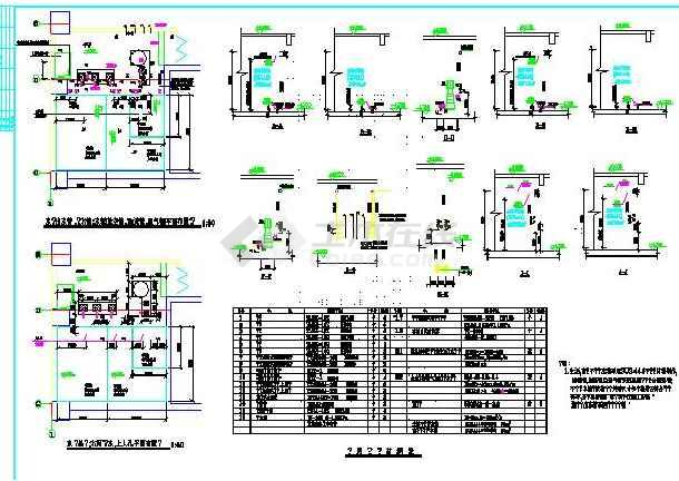 广州某高档公寓给排水设计详细全套图-图1