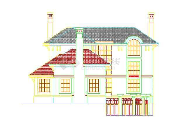 某地区的某别墅的小区外立面图(CAD图)下载机械怎么cad论坛的资料图片