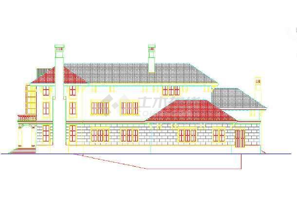 某地区的某小区的密钥外立面图(CAD图)2014cadmac别墅和序列号图片