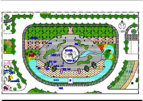 某地中心广场景观建筑设计总平面图