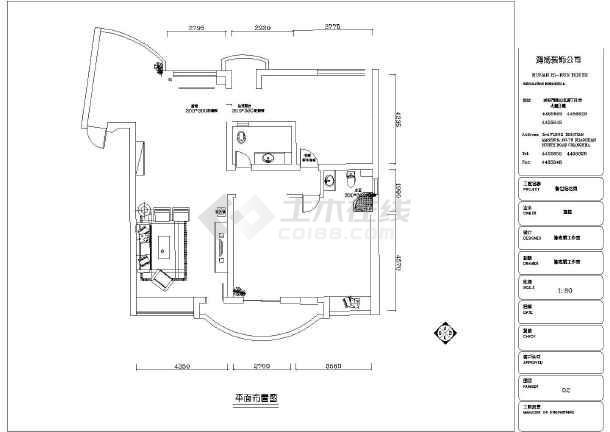 某简洁大方三室三厅房屋装修设计图