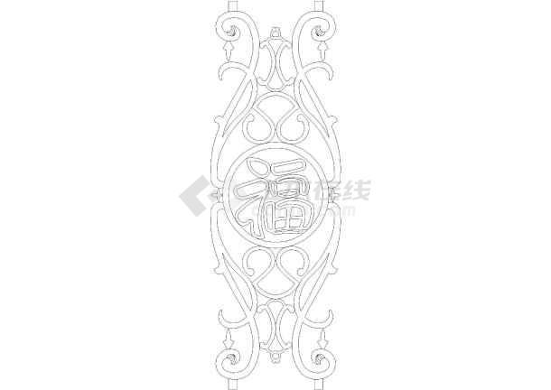 栏杆手绘设计稿