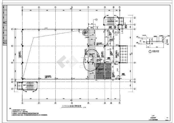 图纸 建筑结构图 框架结构图纸 框架结构会所 某中学室内温水游泳馆