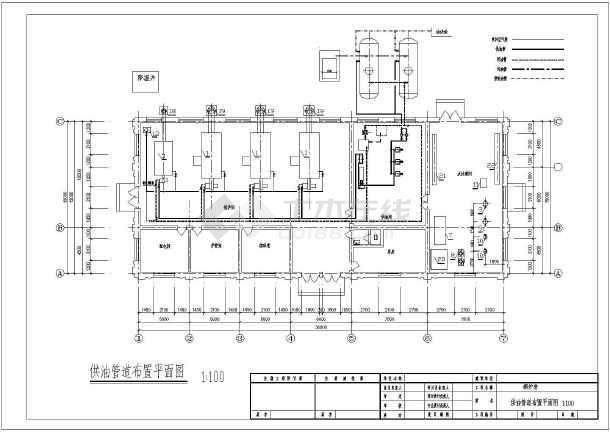 图纸 暖通设计图 供热工程 锅炉房设计施工图 四台燃油锅炉锅炉房暖通