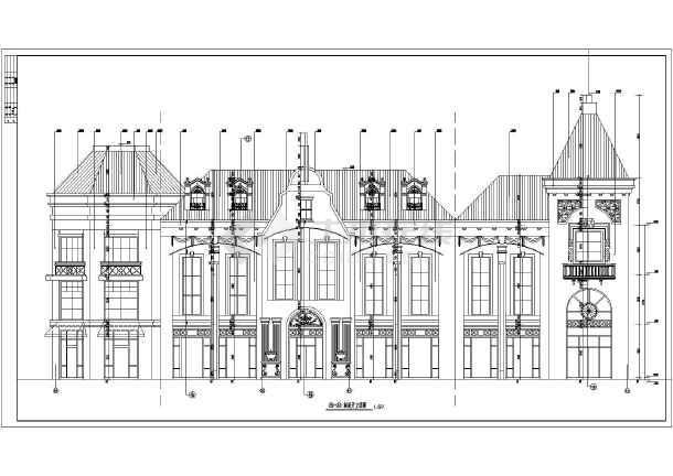 某地区多层框架结构商业楼欧式建筑结构施工图图片