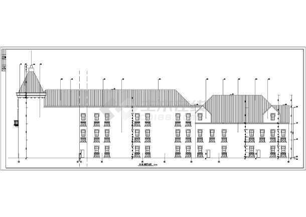 某地区多层框架结构商业楼欧式建筑结构施工图