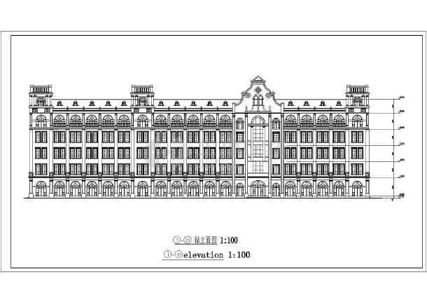 某大学五层欧式风格教学楼建筑设计方案图
