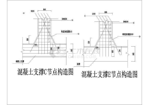 某地区深基坑支护内支撑工程设计施工图