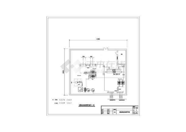 图纸 暖通设计图 中央空调 空调制冷机房设计图 地源热泵机房图及地埋