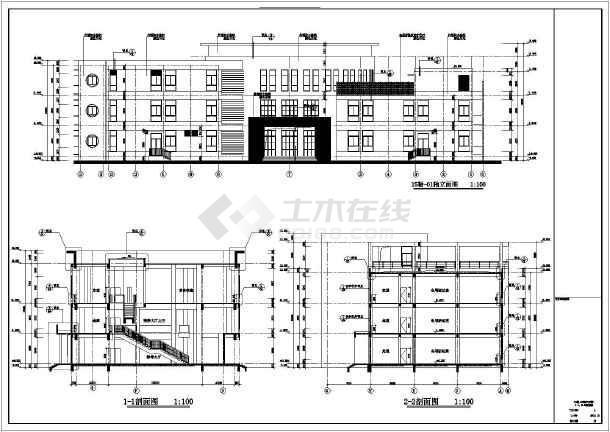 某地区四层框架结构幼儿园建筑设计方案图纸