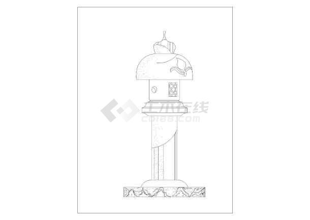 日本园林景观素材石灯笼设计方案收集图片3