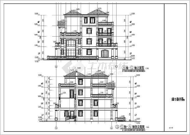 某地4层全套别墅结构案例建筑施工图v全套别墅优秀框架图片