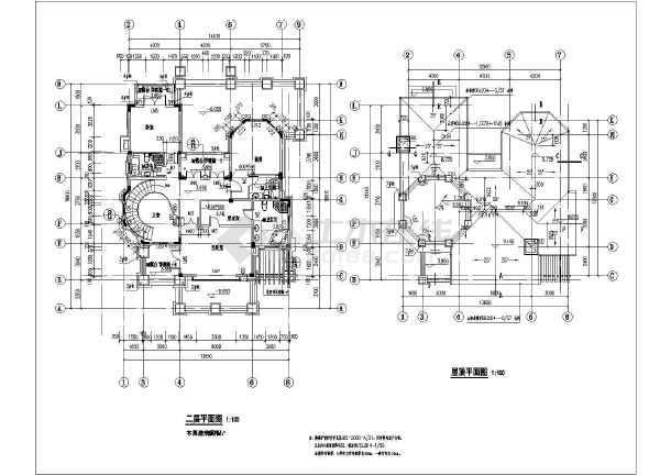 某地欧式三层框架结构别墅施工图