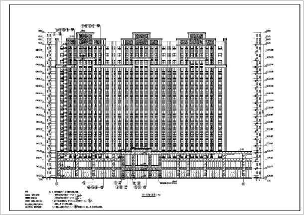 8层框架剪力墙结构单元式住宅建筑施工图