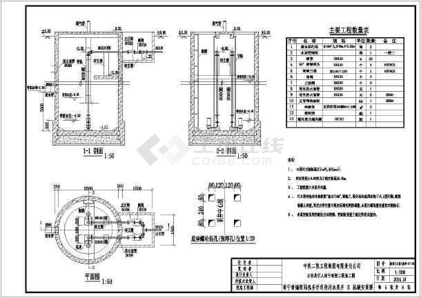 1-5号砖砌化粪池施工设计图,带配筋图