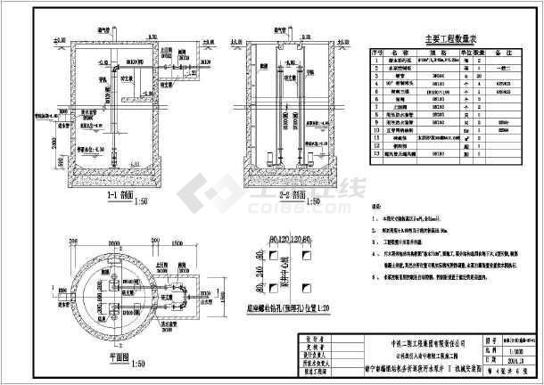 1 5号砖砌化粪池施工 设计图
