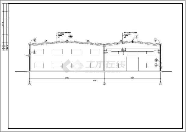 某42X120M钢结构图纸平面建筑结构施工图_c厂房全套简单纸雕图片