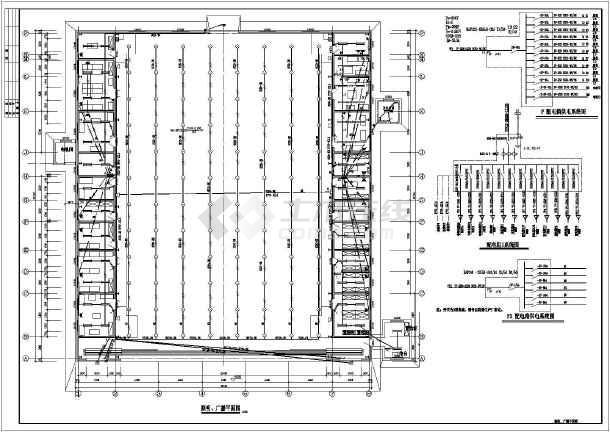 某工业厂房照明设计图(设计说明)