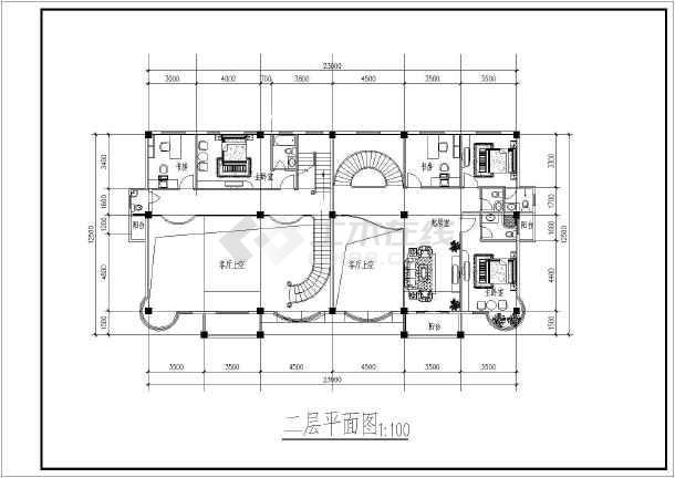 两间二层楼房设计图