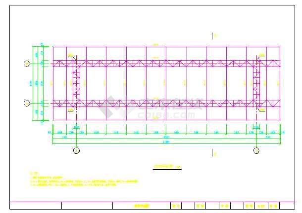 收费站钢结构雨棚施工图设计