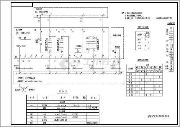 某地溢流水泵电机接线图(包含说明)图片1