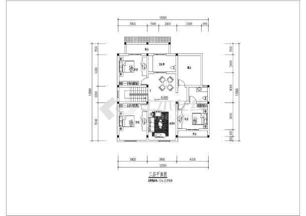 为带商铺商住两用大方新农村自建房屋建筑设计图纸,其内容包含:平面图