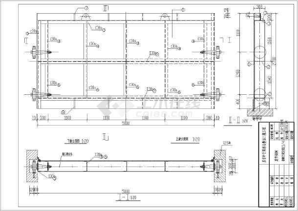 拉萨某图纸中v图纸闸钢灌区结构设计_cad闸门cad是编辑什么快捷键图片