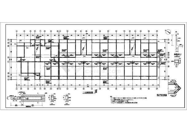 某五层砖混宿舍楼结构设计施工图纸