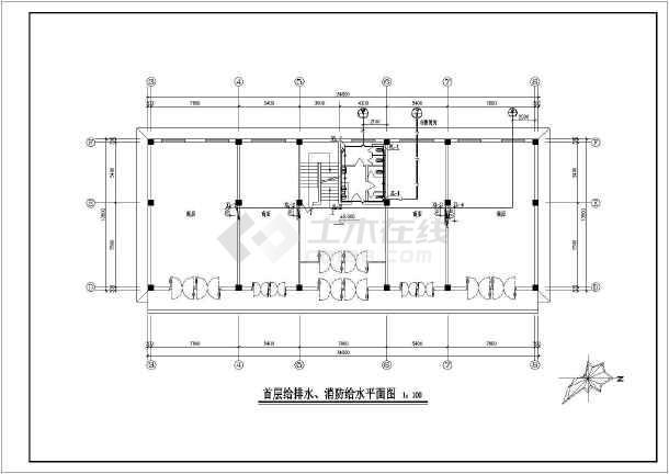 某物质库人防给排水v人防设计图车库说明:本小区为某人防工程地下部分sud建筑设计图片